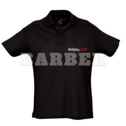 Babyliss Promo рубашка POLO мужская черная короткие рукава, размер L артикул M1154E-L фото, цена br_16346-01, фото 1