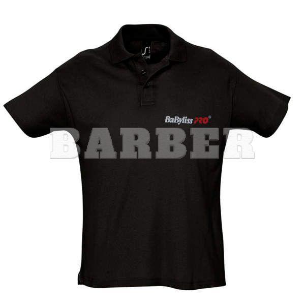 Babyliss Promo рубашка POLO мужская черная короткие рукава, размер L
