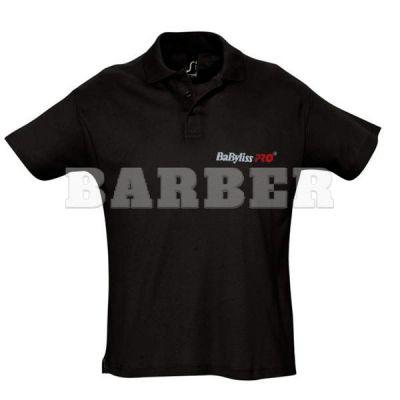 Babyliss Promo сорочка POLO чоловіча чорна короткі рукава, розмір XL